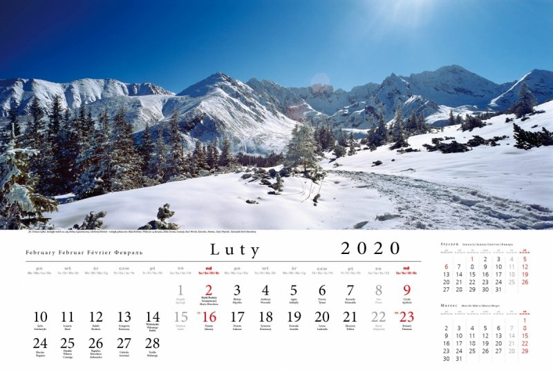 Tatry w panoramie 2020 - luty 2020