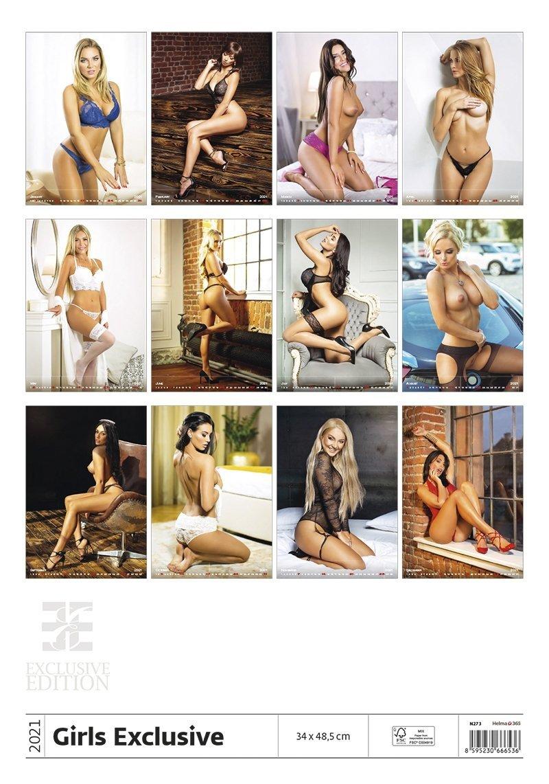 Kalendarz ścienny wieloplanszowy Girls Exclusive 2021 - exclusive edition - tylna okładka