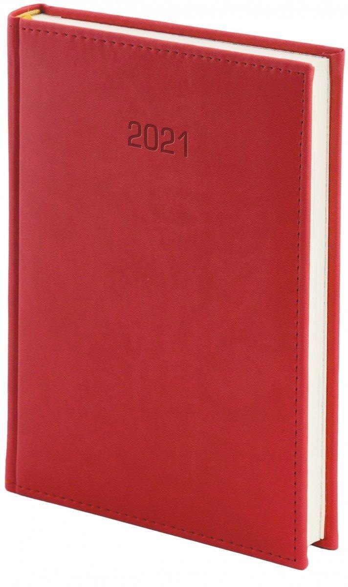 Kalendarz książkowy 2021 B5 dzienny oprawa VIVELLA EXCLUSIVE czerwona