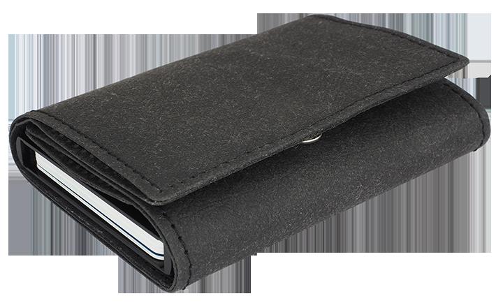 Portfel z aluminiowym etui na karty czarny