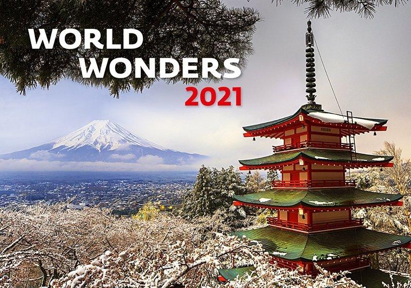 Kalendarz ścienny wieloplanszowy World Wonders 2021 - okładka