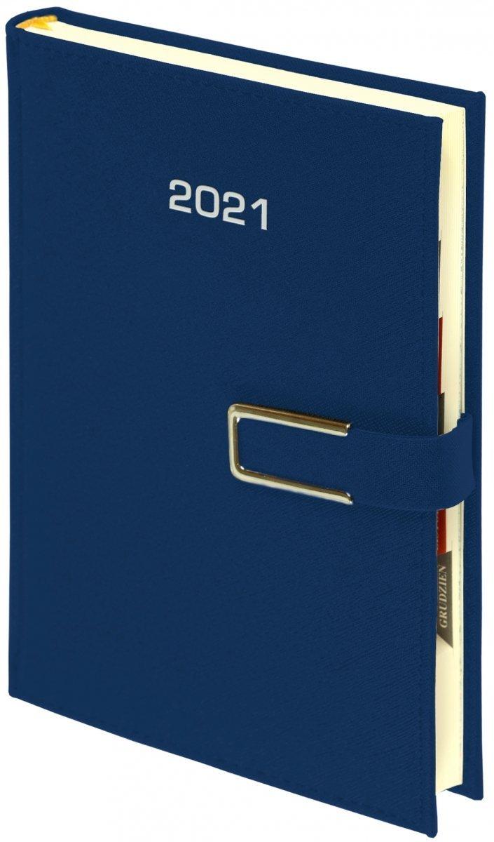 Kalendarz książkowy 2021 A4 tygodniowy oprawa ROSSA CHROMO granatowa - oprawa zamykana na magnes