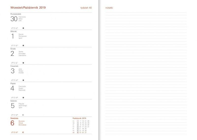 Kalendarz akademicki 2019/2020 układ tygodniowy