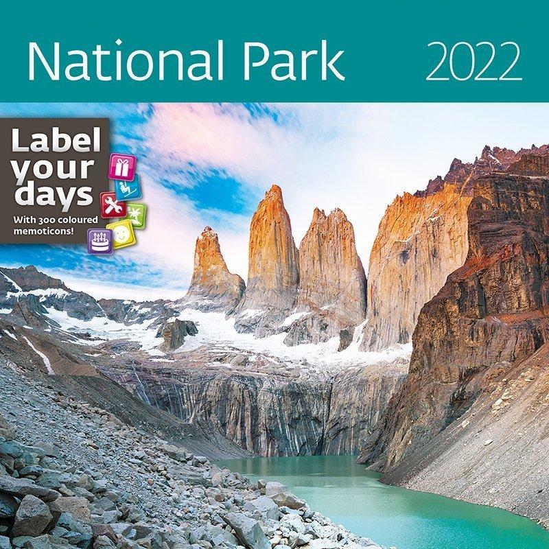 Kalendarz ścienny wieloplanszowy National Parks 2022 z naklejkami - okładka