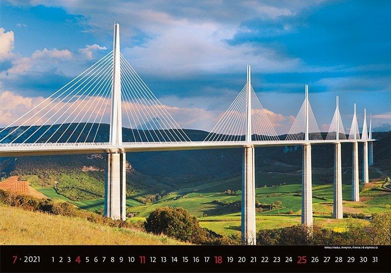 Kalendarz ścienny wieloplanszowy Bridges 2021 - lipiec 2021