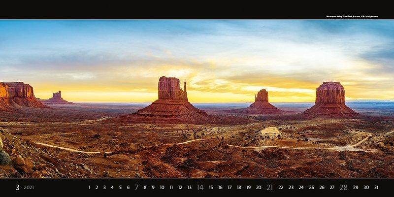 Kalendarz ścienny wieloplanszowy Panoramaphoto 2021 - exclusive edition - marzec 2021