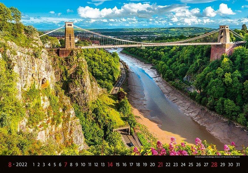 Kalendarz ścienny wieloplanszowy Bridges 2022 - sierpień 2022