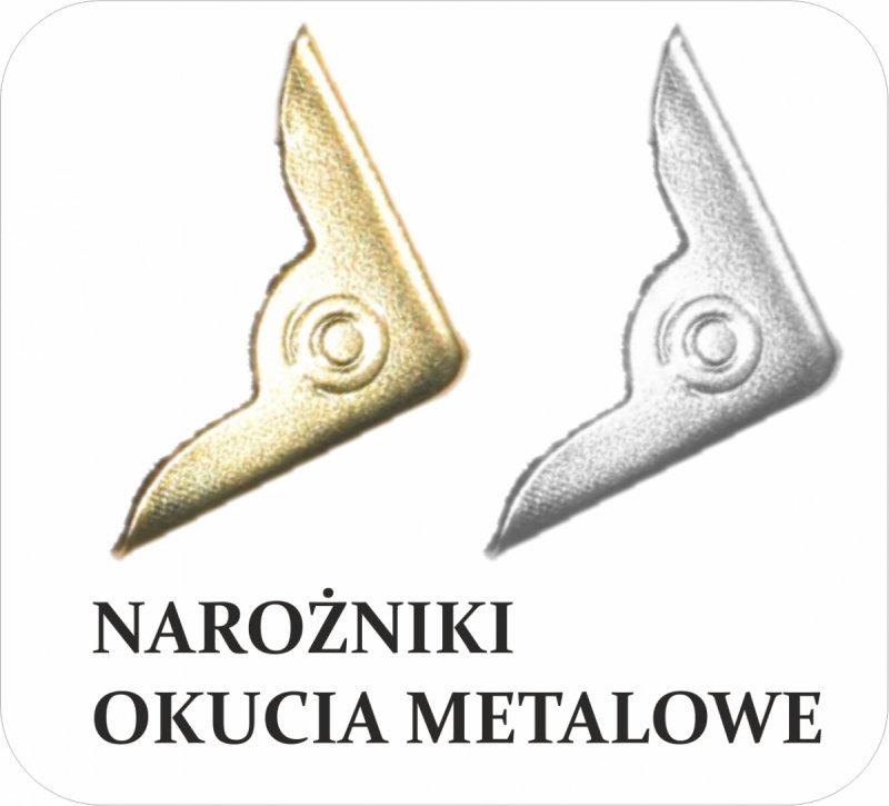narożniki metalowe (okucia metalowe) do kalendarzy książkowych
