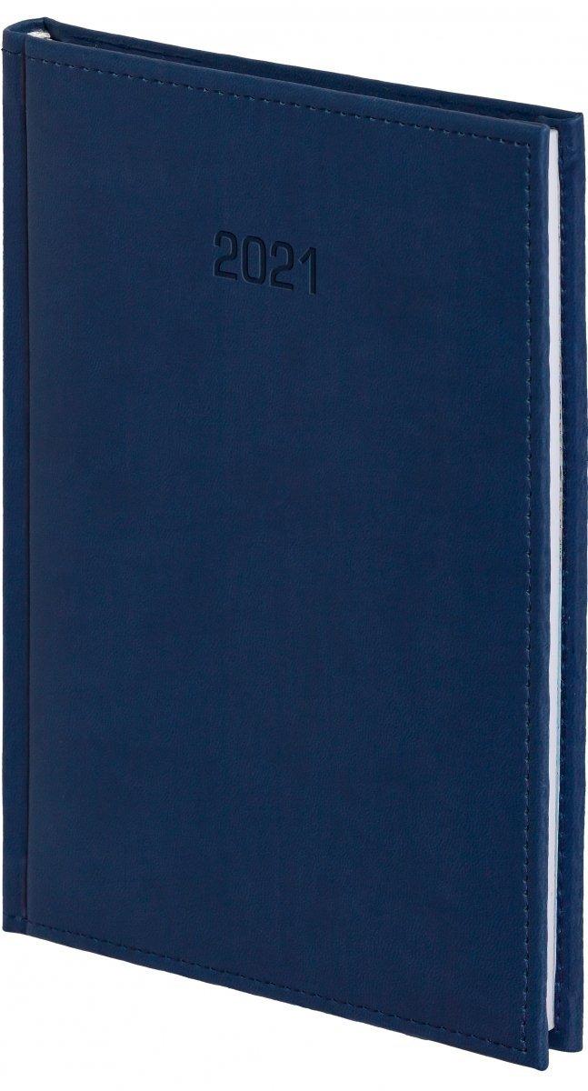Kalendarz książkowy 2021 B5 tygodniowy oprawa VIVELLA EXCLUSIVE granatowa