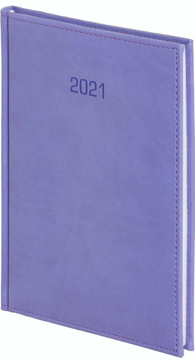 Kalendarz książkowy 2021 B5 tygodniowy oprawa VIVELLA EXCLUSIVE fioletowa