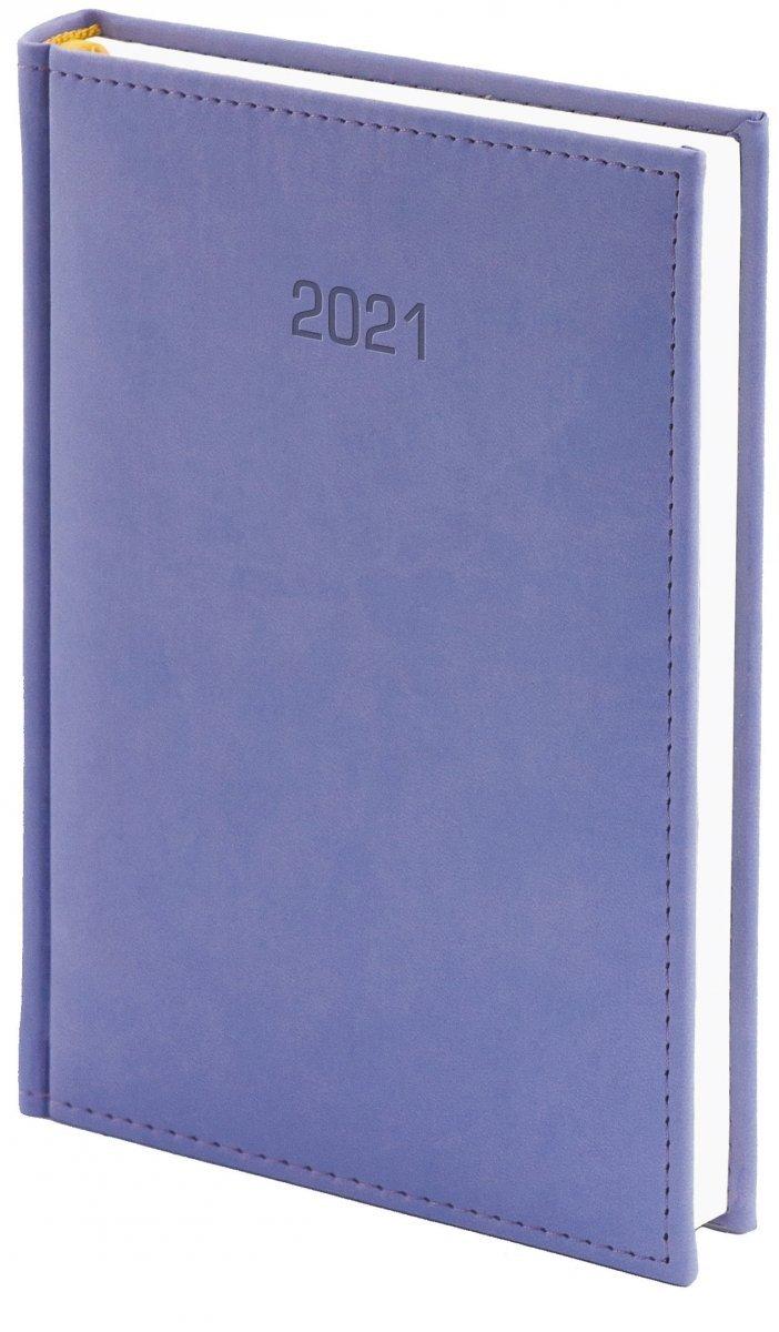 Kalendarz książkowy 2021 A4 dzienny oprawa VIVELLA EXCLUSIVE - fioletowa