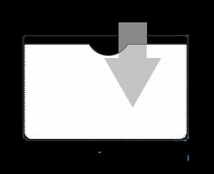 Kieszonki samoprzylepne na wizytówki 100x60 mm z wycięciem na palec