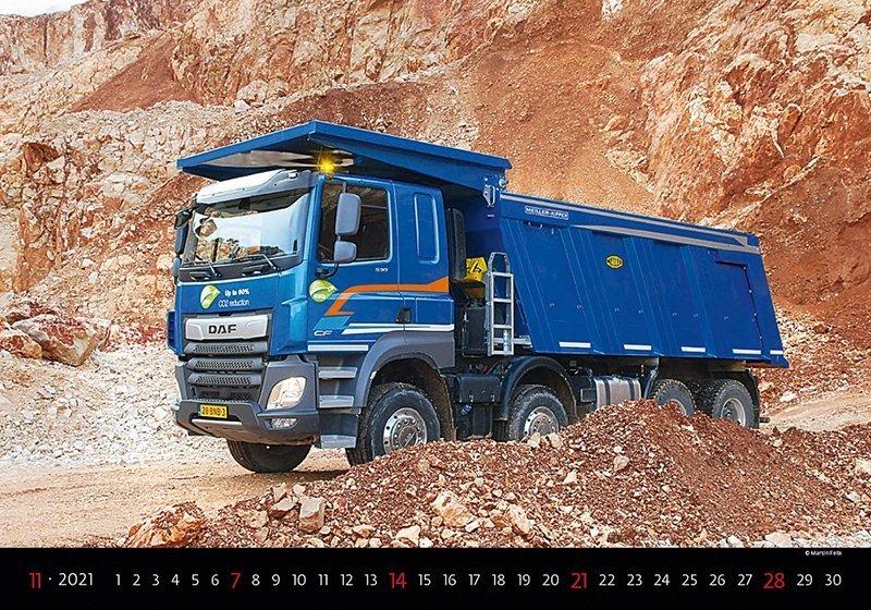 Kalendarz ścienny wieloplanszowy Trucks 2021 - listopad 2021