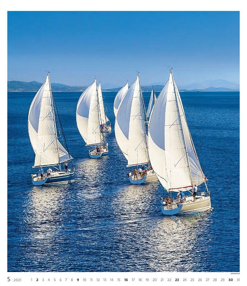 Kalendarz ścienny wieloplanszowy Sailing 2021 - exclusive edition - maj 2021