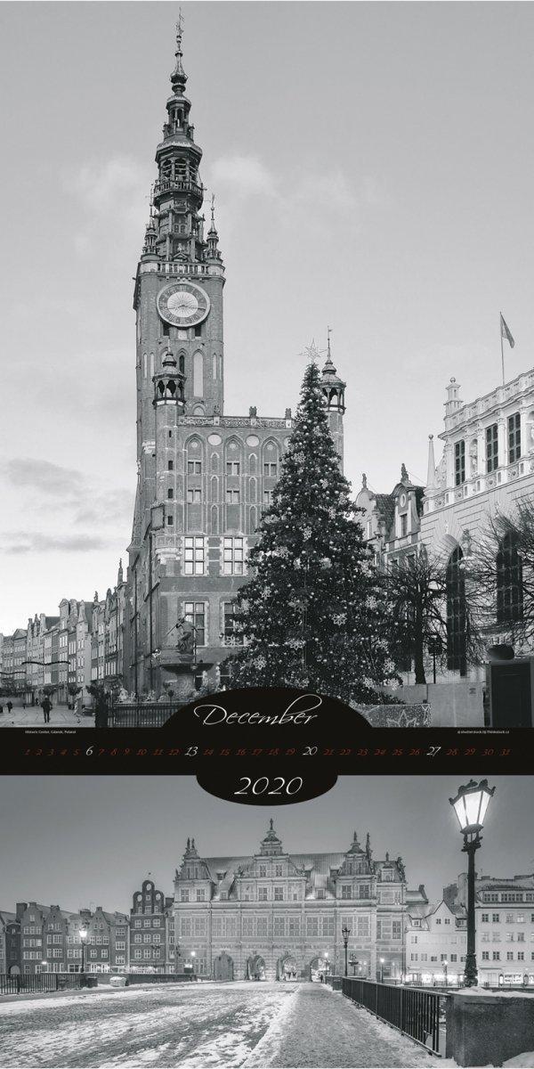 Kalendarz ścienny wieloplanszowy All About Cities 2020 - exclusive edition - grudzień 2020