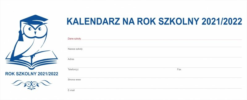 Okładka kalendarza tygodniowego biurkowego BUSINESS LINE na rok szkolny 2021/2022