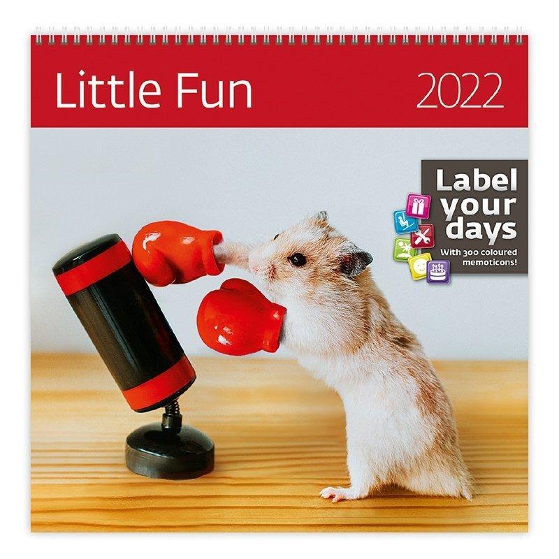 Kalendarz ścienny wieloplanszowy Little Fun 2022 z naklejkami - okładka
