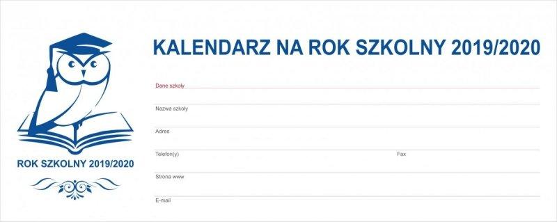 Kalendarz biurkowy EXCLUSIVE na rok szkolny 2019/2020 - strona tytułowa
