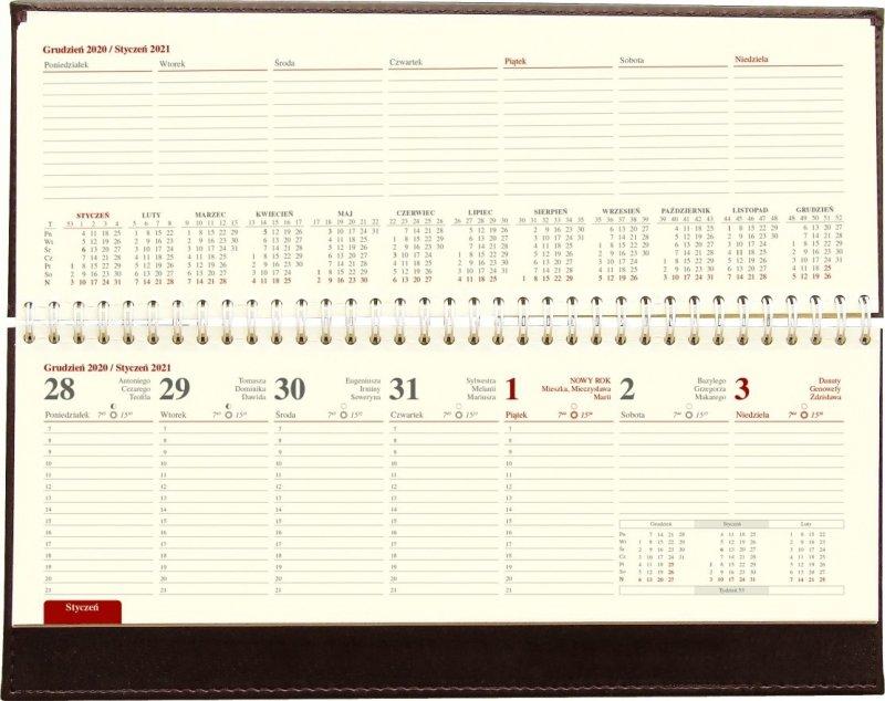 Kalendarz biurkowy stojąco-leżący LUX 2021 - kalendarium