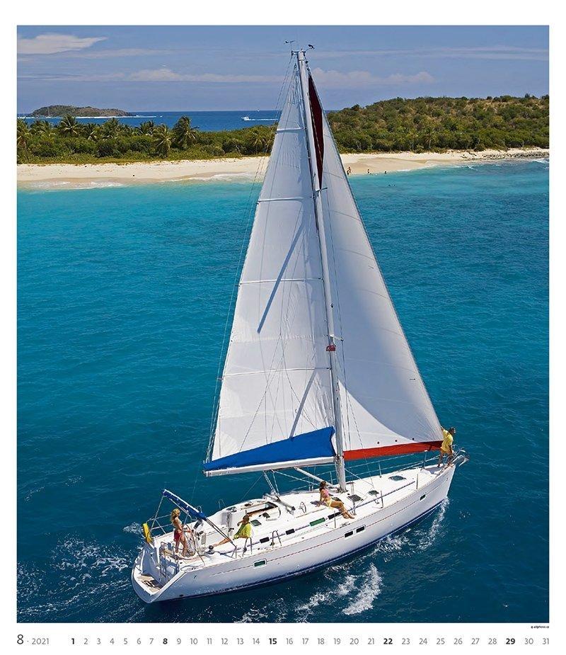 Kalendarz ścienny wieloplanszowy Sailing 2021 - exclusive edition - sierpień 2021