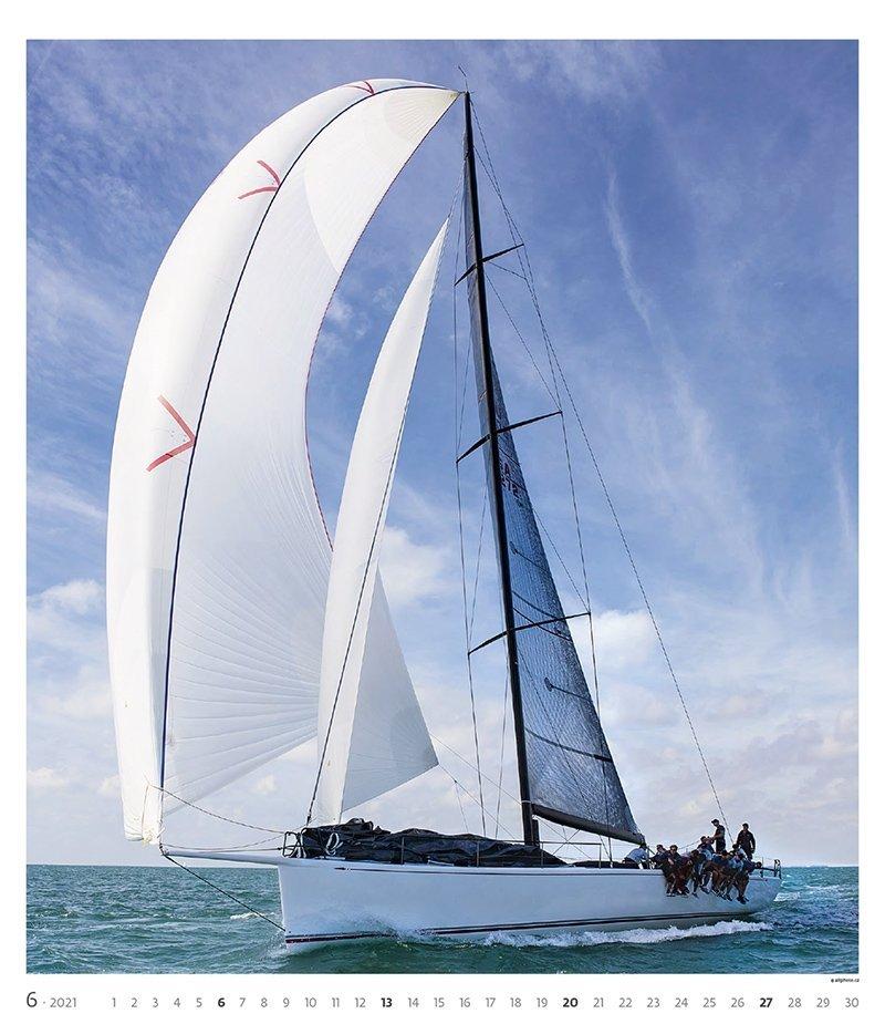 Kalendarz ścienny wieloplanszowy Sailing 2021 - exclusive edition - czerwiec 2021