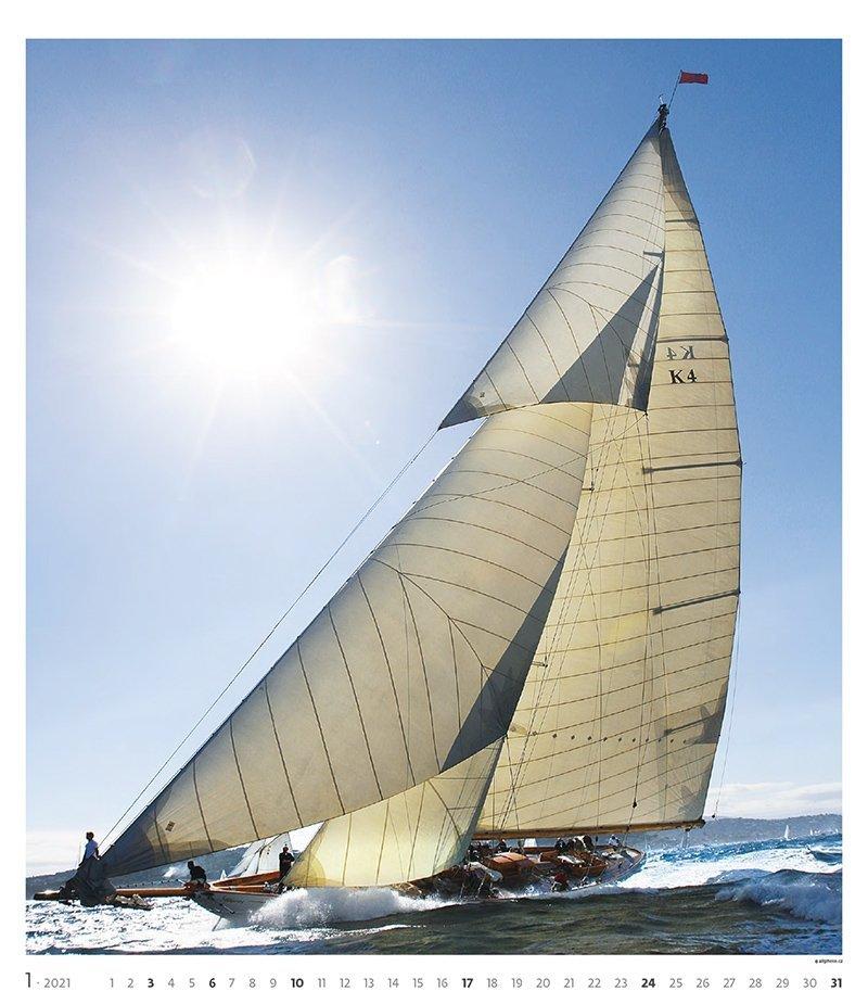Kalendarz ścienny wieloplanszowy Sailing 2021 - exclusive edition - styczeń 2021