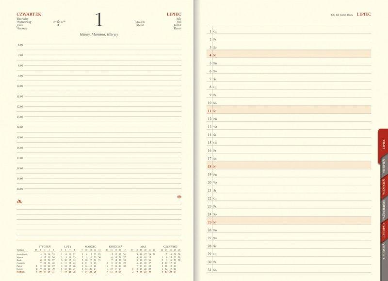 Kalendarz A4 sobota i niedziela na oddzielnych stronach