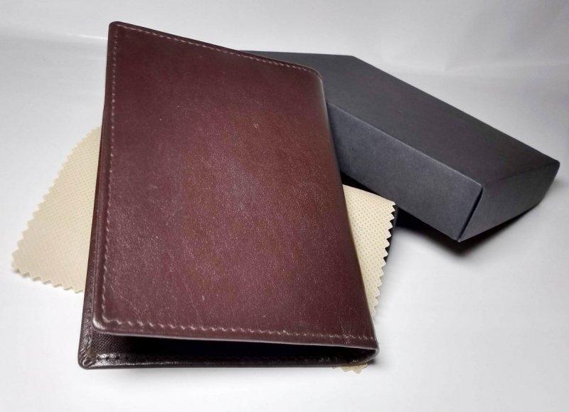 Etui na dokumenty brązowy ozdobne pudełko