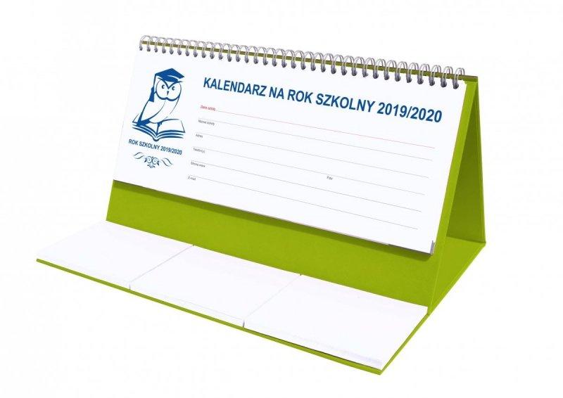 Kalendarz biurkowy EXCLUSIVE na rok szkolny 2019/2020 - seledynowy