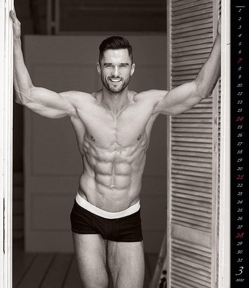 Kalendarz ścienny wieloplanszowy Men 2021 - exclusive edition - marzec 2021