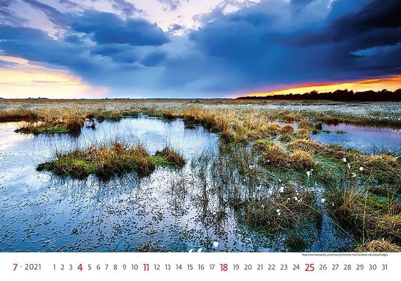 Kalendarz ścienny wieloplanszowy Landscapes 2021 - lipiec 2021