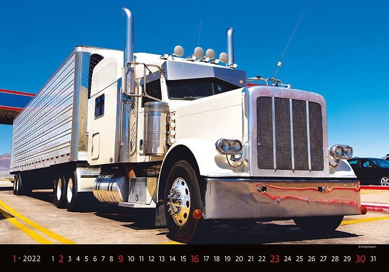 Kalendarz ścienny wieloplanszowy Trucks 2022 - styczeń 2022