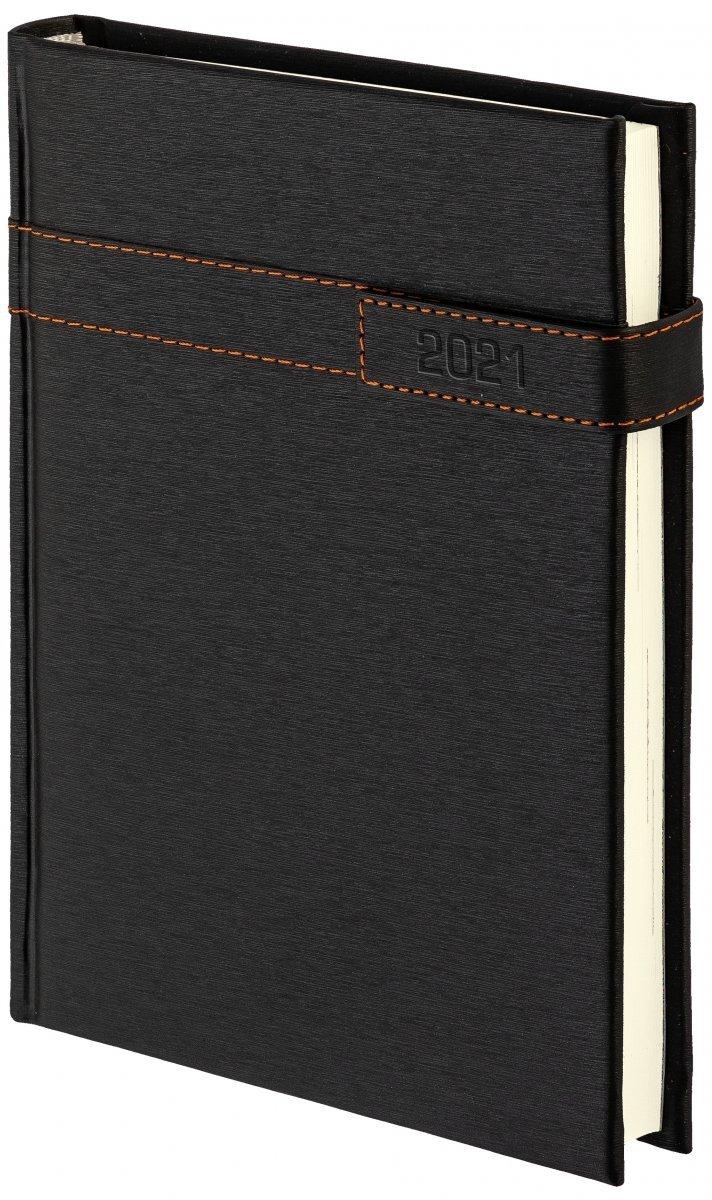 Kalendarz książkowy 2021 B5 tygodniowy oprawa ALU na magnes czarny