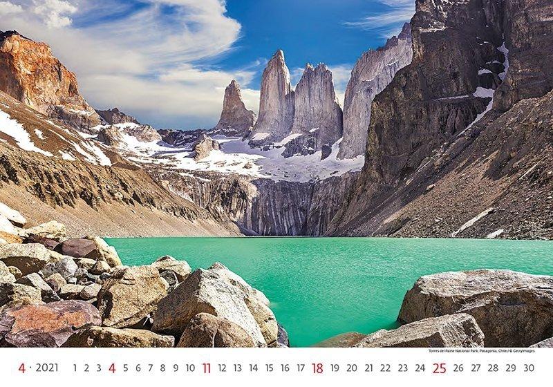 Kalendarz ścienny wieloplanszowy National Parks 2021 - kwiecień 2021