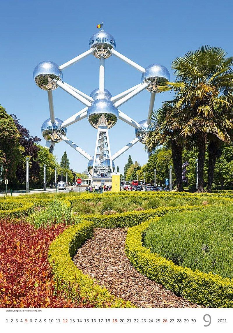 Kalendarz ścienny wieloplanszowy Cities Of Europe 2021 - wrzesień 2021