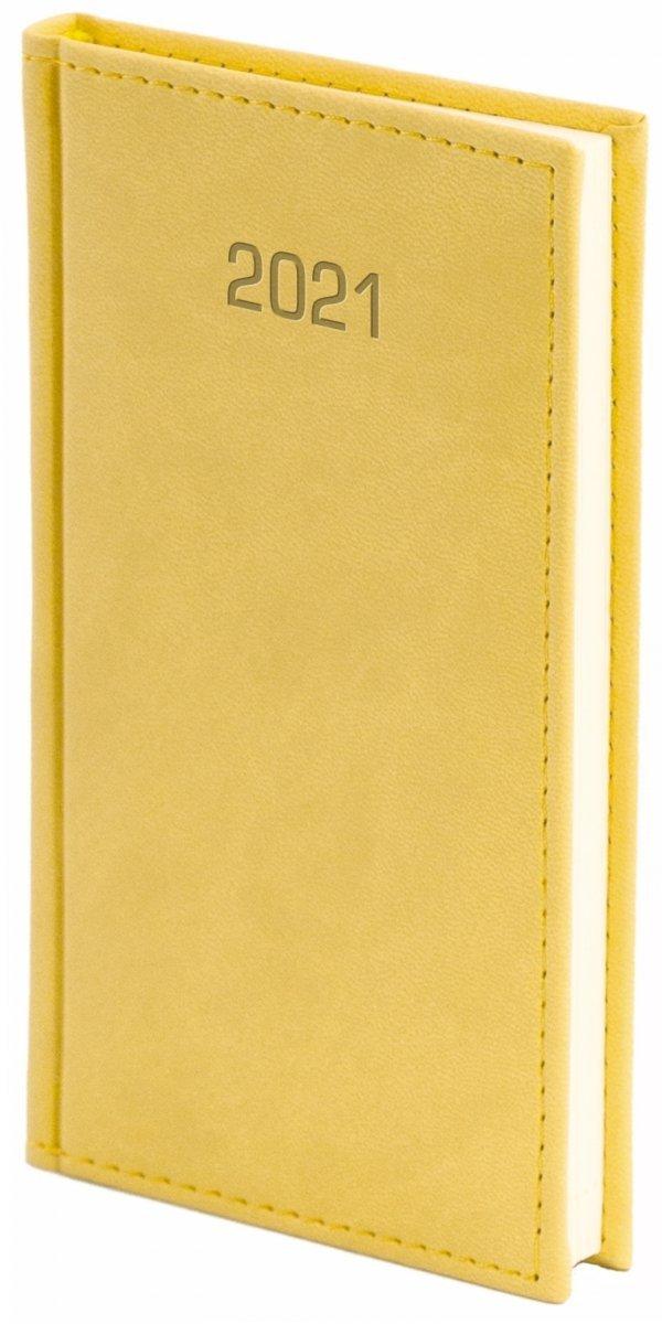 Kalendarz książkowy 2021 A6 tygodniowy oprawa VIVELLA EXCLUSIVE żółta