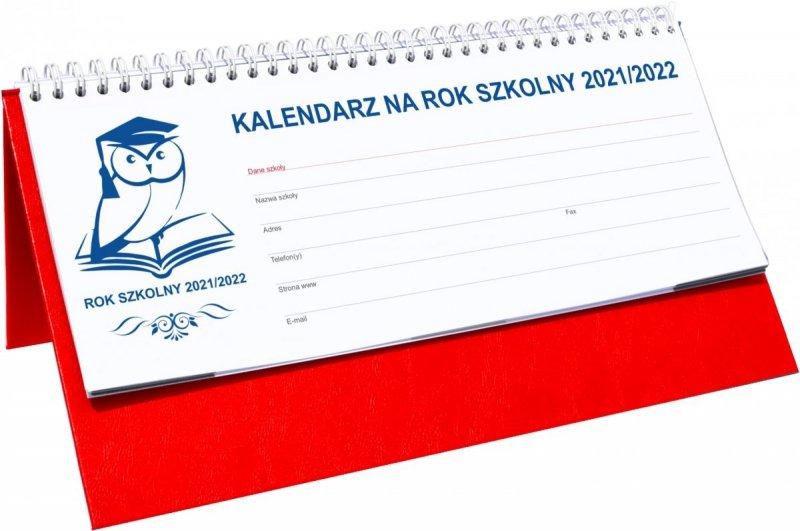 Kalendarz na biurko stojąco-leżący na rok szkolny 2021-2022