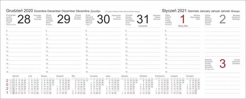 Kalendarz biurkowy z piórnikiem 2021 niebieski