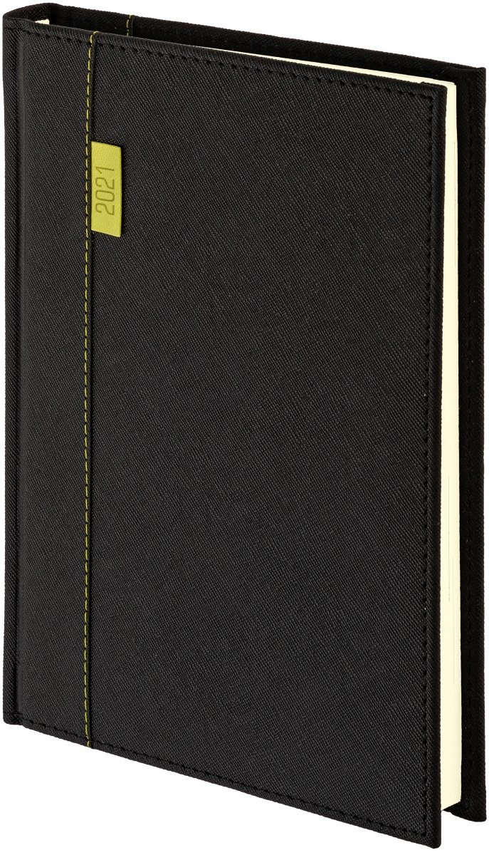Kalendarz książkowy 2021 B5 dzienny oprawa Vegas czarny