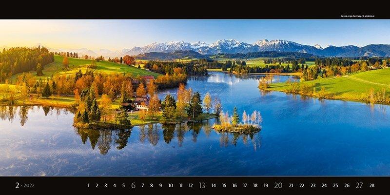 Kalendarz ścienny wieloplanszowy Panoramaphoto 2022 - exclusive edition - luty 2022