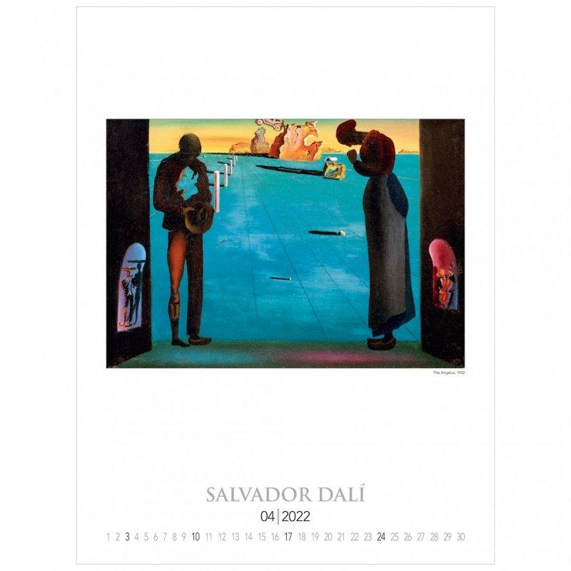 Kalendarza ścienny wieloplanszowy z reprodukcjami obrazów Salvadora Dali - kwiecień 2022