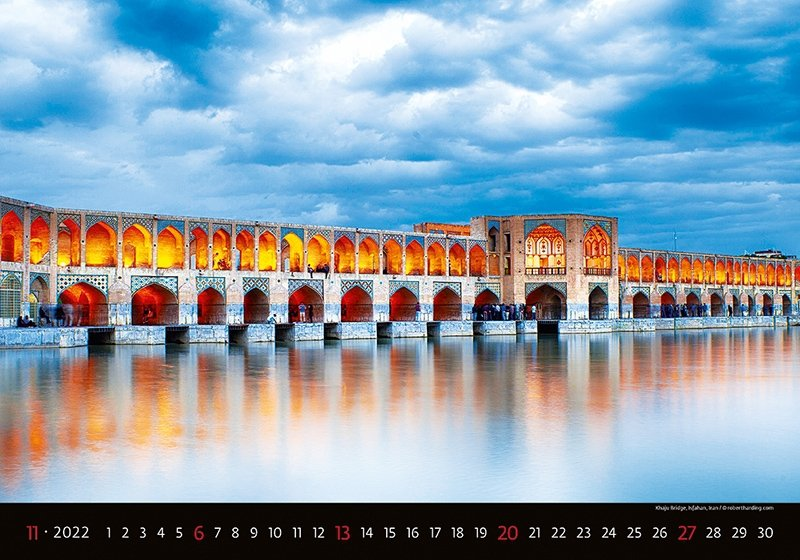 Kalendarz ścienny wieloplanszowy Bridges 2022 - listopad 2022