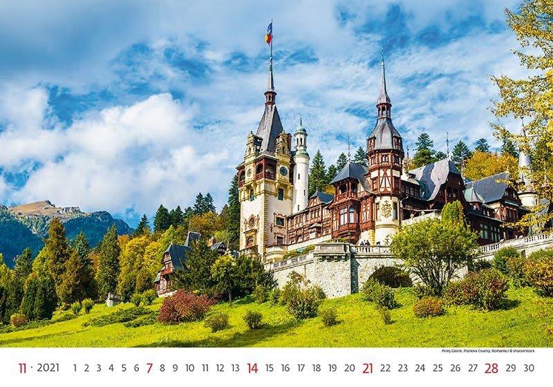 Kalendarz ścienny wieloplanszowy World Heritage 2021 - listopad 2021
