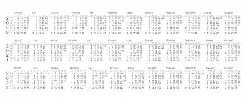 Kalendarz biurkowy z piórnikiem 2021 pomarańczowy