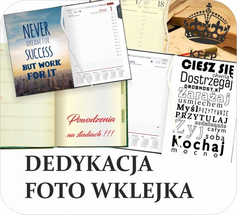 wklejka do kalendarza akademickiego - wklejka z dedykacją, foto wklejka