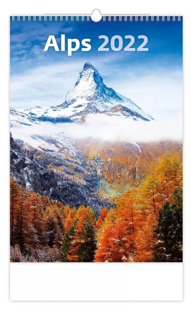 Kalendarz ścienny wieloplanszowy Alps 2022 - okładka