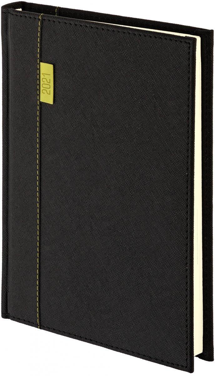 Kalendarz książkowy 2021 A5 dzienny oprawa przeszywana z połyskującego materiału