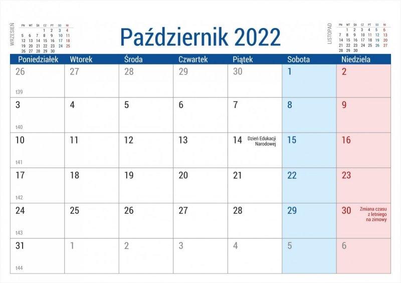 Kalendarz biurkowy stojący na podstawce PLANO 2022 brązowy