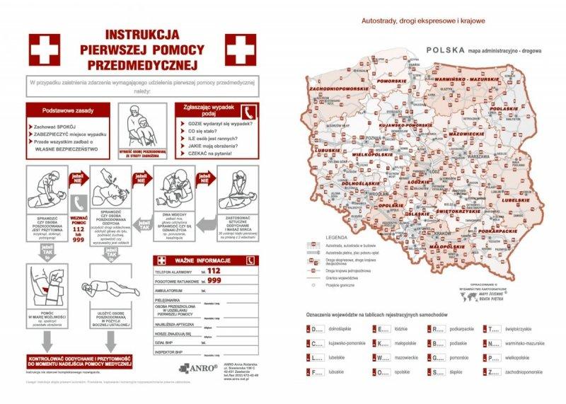 Kalendarz nauczyciela na rok szkolny 2020/2021 instrukcja udzielania pierwszej pomocy mapa Polski