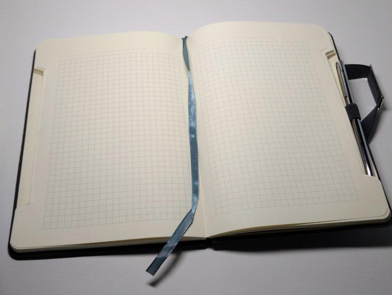 Notes A5 papier chamois w kratkę